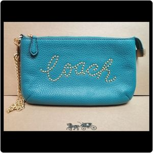 Coach Large Wristlet with Studded Script
